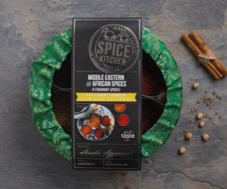 AFRICAN & MIDDLE EASTERN SPICE TIN WITH SARI WRAP | 9 SPICES |