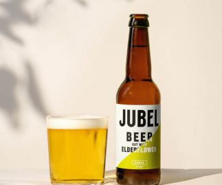 JUBEL ELDERFLOWER LAGER - Gluten-free, Vegan, 4% ABV Beer - 12x330ml Bottles