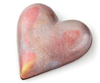 Chocolate Candy Heart filled with Sea Salt Caramel pecans and shortbread
