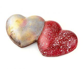 Hugging Hearts filled with Sea Salt Caramel and Kalamansi Ganache