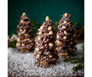 Milk Chocolat Fruit and Nut Snowy Christmas Tree