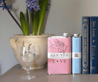 THE CUPID, LOVE TIN PINK – FULL OF DELICIOUS GIN