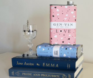 THE LOVE HEART PINK TIN  – FULL OF DELICIOUS GIN