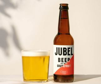 JUBEL GRAPEFRUIT LAGER - Gluten-free, Vegan, 4% ABV Beer - 12x330ml Bottles -