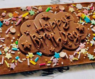Happy Birthday Milk Chocolate Slabs