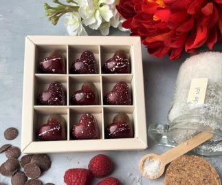 Chocolate Hearts - Luscious Raspberry & Decadent Salted Caramel