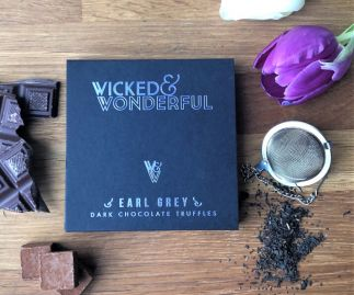 Earl Grey Dark Chocolate Truffles (Vegan)