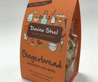Gluten Free Iced Gingerbread Bites - 100g