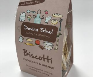 Gluten Free Biscotti - Choc-chip & orange - 100g