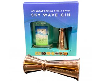 Sky Wave Gin Liberation Gin Gift Box & Jigger (1 x 200ml bottle plus Rose Jigger)