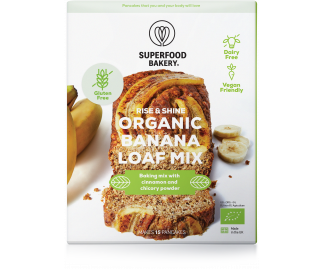 Rise & Shine Organic Banana Loaf Mix 250g