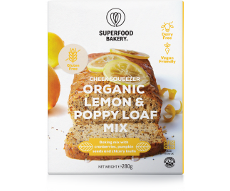 Zesty Cheer Organic Lemon & Poppy Loaf Mix 270g