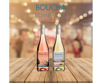 Mixed case Boucha Kombucha White and Blush 750ml