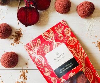Organic Red Velvet Coconut Macaroons