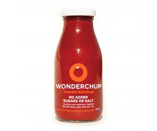 Delicious and Healthy Tomato Ketchup with No Added Sugar or Salt by Wonderchup (270g)