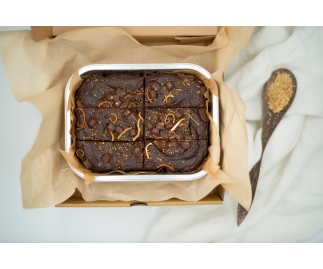 Chocolate Orange Brownies | Gluten Free, Dairy Free, Vegan & Refined Sugar Free