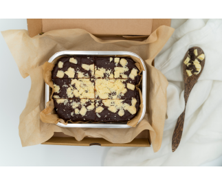 Vegan White Chocolate Chip Brownies | Dairy Free & Gluten Free