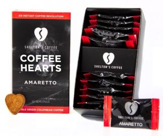 Shelton's Instant Coffee Hearts Amaretto Flavour