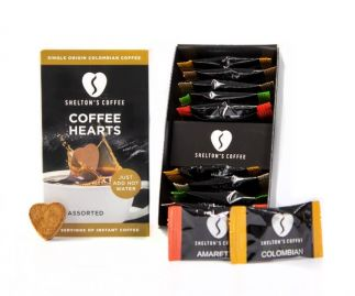 Shelton's Instant Coffee Hearts Assorted Flavours