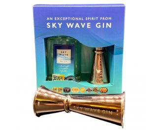 Sky Wave Gin Gift Box & Jigger (1 x 200ml bottle plus Rose Jigger)