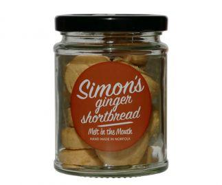 Simon's Ginger Shortbread 90g (All butter)