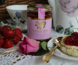Strawberry & English Rose Petal preserve