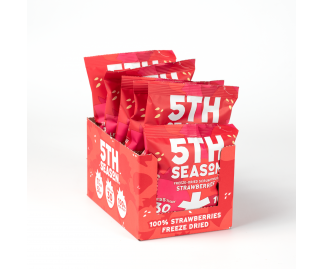 5th Season Freeze-Dried Scrumptious Strawberries 6 x 8g