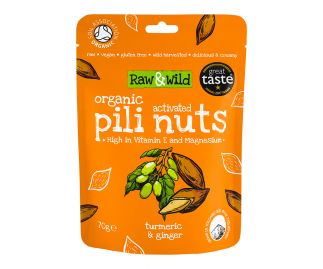 Organic Activated Turmeric & Ginger Pili Nuts - 70g
