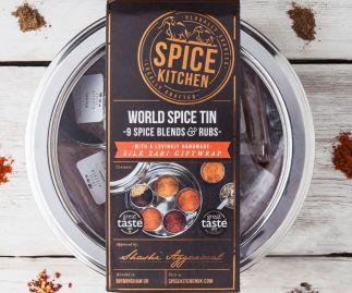 WORLD SPICE BLENDS & BBQ RUBS SPICE TIN | 9 SPICE BLENDS