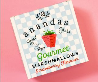 Ananda's Strawberry Marshmallows 80g