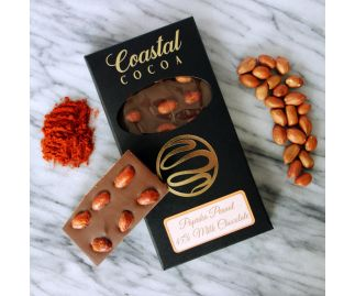 Paprika Peanut 45% Milk Chocolate Bar