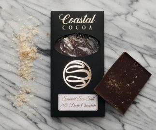 Smoked Sea Salt Dark Chocolate Bar