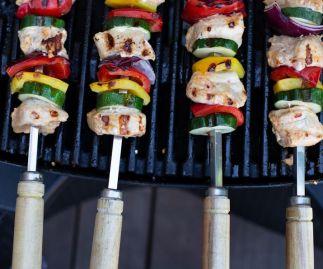 53CM 5MM WIDE SQUARE KEBAB SKEWERS FOR BBQ OR TANDOOR