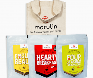 Marulin Gift Pack: 3 x Tea Tent Pouches & Tote Bag