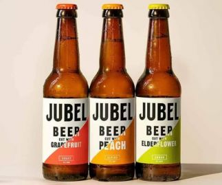JUBEL BEER Mixed Case - Craft Lager cut with Fruit - Gluten-free, Vegan, 4% ABV - 12x330ml Bottles
