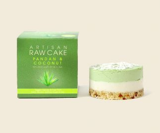 6 x Pandan & Coconut Raw Cake | Infused with Spirulina