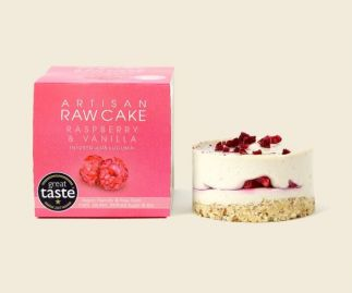 6 x Raspberry & Vanilla Raw Cake | Infused with Lucuma