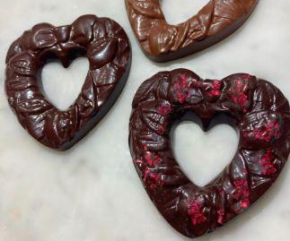 Award-winning Raspberry Chocolate Plant-based Personalizable Heart