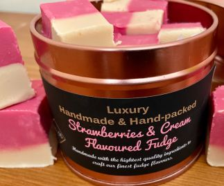 Gourmet Vegan Fudge Gift Tin, Flavoured Fudge.
