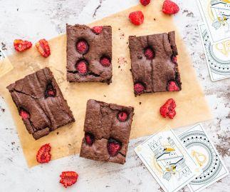 Vegan Chocolate & Raspberry Brownies Box of 8