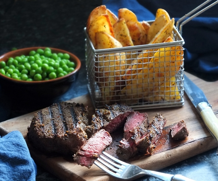 Effortless 'Date Night' Steak & Chunky Potato Wedges